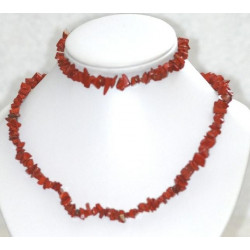 Collier+bracelet de Jaspe rouge