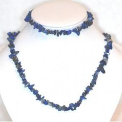 Collier+bracelet de Lapis-lazuli