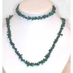 Collier+bracelet de Malachite