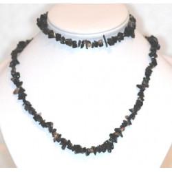 Collier+bracelet d'Onyx noir