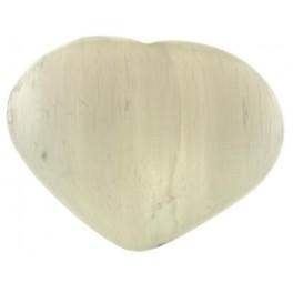 Coeur de Sélénite blanche