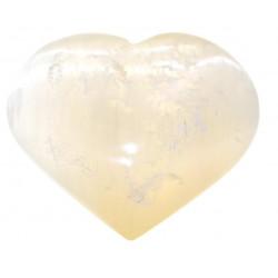 Coeur de Sélénite orangé