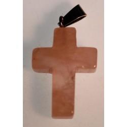 Croix de Quartz rose