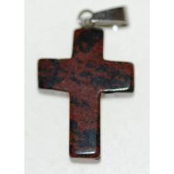Croix en Obsidienne marron