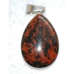 Goutte en Obsidienne marron