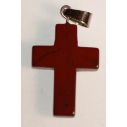 Croix en Jaspe rouge